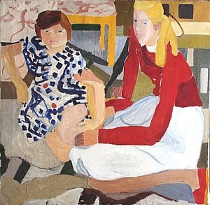 Ellen and Ragna | Oil on Canvas | 27 x 27 1/2 inches  | ca. 1939-42