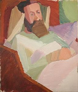 Erlendur in Unahus | Oil on Canvas | 27.875 x 23 1/2 inches | ca. 1940