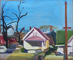 Kansas City | Oil on Paper Board | 15 x 18 inches | 1965