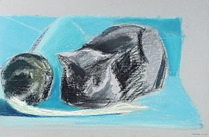 Kisa and Squash | Pastel on Paper | 12 x 18 inches |ca. 1990