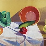 Still Life with French Bowl and Grapefruit | Pastel on Paper | 26 x 40 inches | ca. 1975