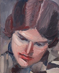 Temma Reading | Oil on Canvas | 10 1/2 x 8 1/2 inches |1962