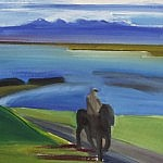 Rider in Landscape  | Oil on Canvas | 16 x 21 inches  |1995