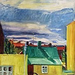 View from Solvallagata | Oil on Canvas | 22 x 20 inches | 1963